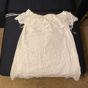 Cold Shoulder Peasant Dress